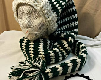 CROCHET Stocking Cap PATTERN  Instant Download Pdf  Nikolai Super Chunky  Extra Long Elf Hat Cowl  Baby - Adult Large  US English Terms Only 83cf7ff47ba