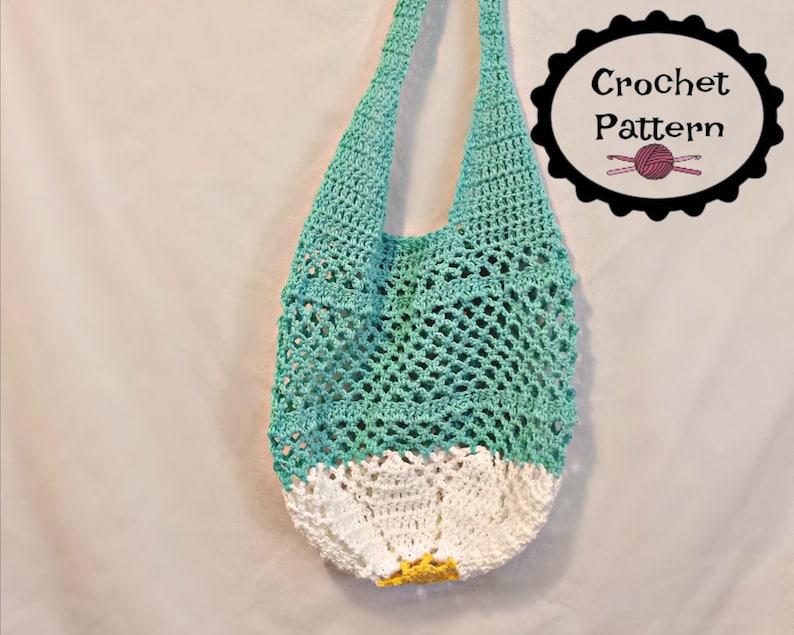 Crochet Pdf Pattern Daisy Farmers Market Bag Crochet Pattern Etsy