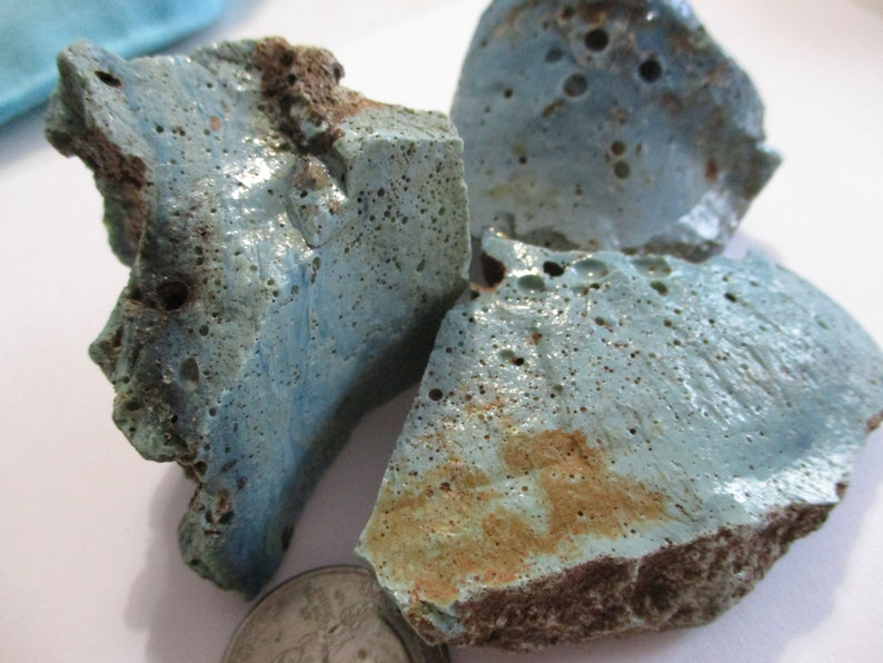 Antique Michigan Smelted Slag Glass Rough Rocks Leland Blue Pieces
