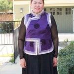 Authentic Vintage Mongolian vest. Purple with silver trim. Perfect on Mongolian Deel Garb, garment or on the skirt.   Монгол дээлний хантааз