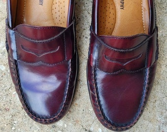 Vintage Penny Loafer, Johnson and Murphy Loafers, Men's 7 B