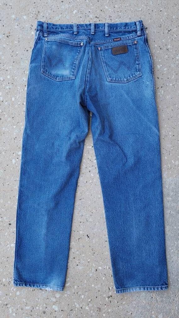 Vintage Wrangler Jeans, Wrangler Denim, Distressed