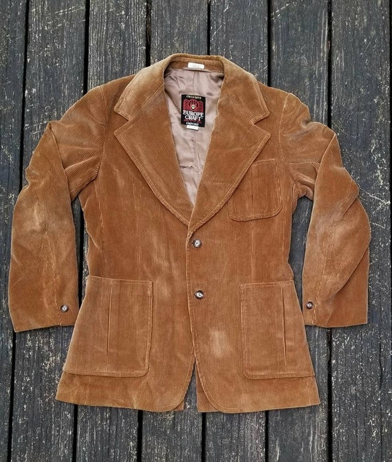 1970's Men's Corduroy Jacket, Europe Craft Corduro
