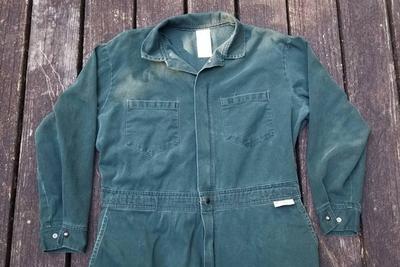 Vintage 1970's Coveralls, Boiler Suit, Size Men's