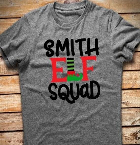 d9349f3d5b3 Personalized Elf Squad T-shirt Elf Tshirt Elf Squad Tshirt