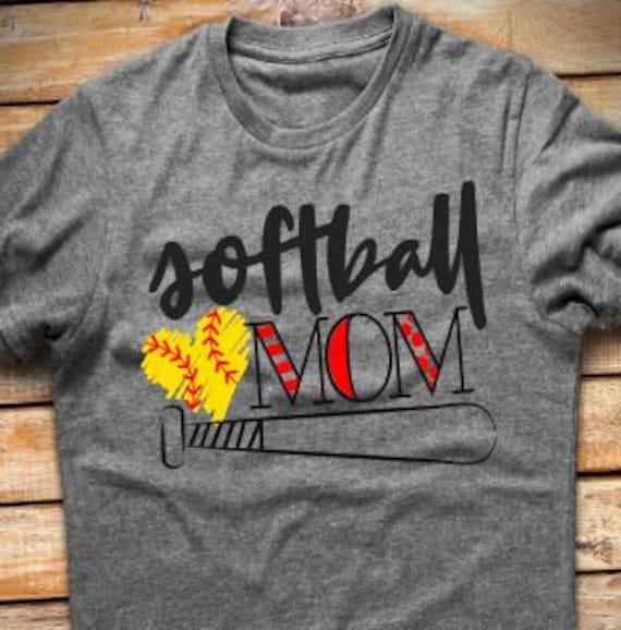 Softball Mama Tshirt Softball Mom Shirt Softball Mom Etsy