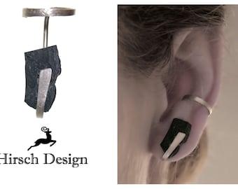 Earcuff ear clip, ear cuff, earring without earhole, cuff earrings, ear clip, modern asymetric minimalist earring