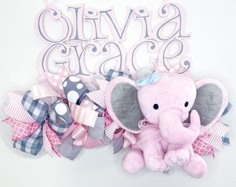 Custom Baby Name Sign   Its a Girl Hospital Door Hanger   Personalized Baby Girl Decoration   Its a Girl Wreath