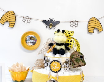Bee and Honey Theme Banner - Oh Babee Theme Baby Shower Decoration