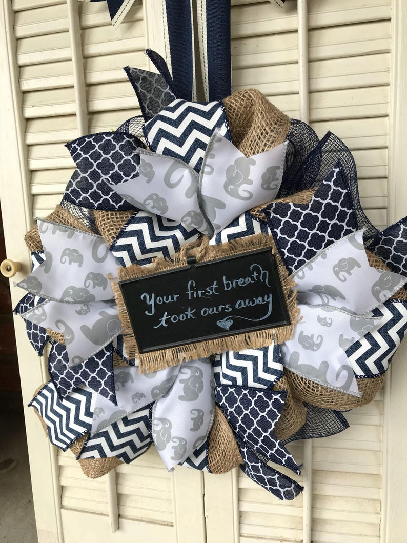 Its A Boy Welcome Baby Wreath New Baby Boy Hospital Door Etsy