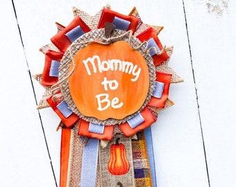Pumpkin Theme Mommy To Be Pin, Little Pumpkin Theme Baby Shower Decor