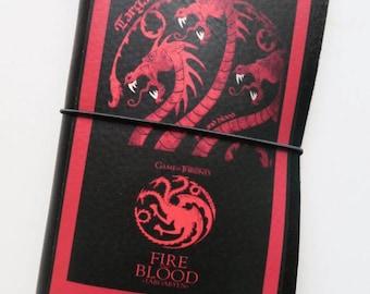 GOT House Targaryan inspired imprinted leather TN (regular size)