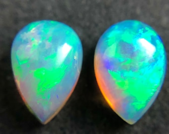 Australian jelly opal matched pair 0.80 carat total loose gemstone - Purchase only with custom order!