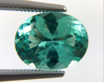 Mint blue green Tourmaline oval cut 2.75 carat gemstone - Buy loose or make your own custom jewelry