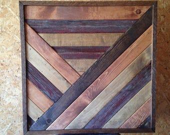 Art mural bois géométrique