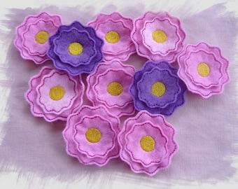Flower Feltie Layered In The Hoop Machine Embroidery Design