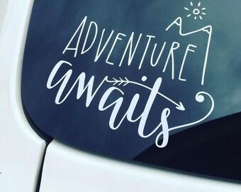 Adventure Awaits Car / Laptop Decal