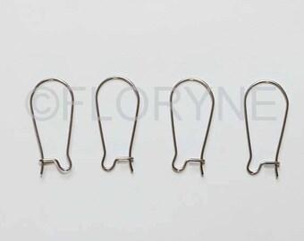 4 media dangle earrings, stainless steel 12 x 25 Mm