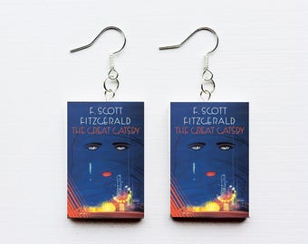 Great Gatsby mini book earrings