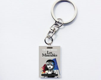 Les Miserables mini book keychain