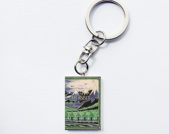 Hobbit mini book keychain