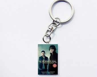 Supernatural mini book keychain
