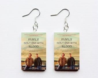 Supernatural Family Don't End With Blood mini book earring