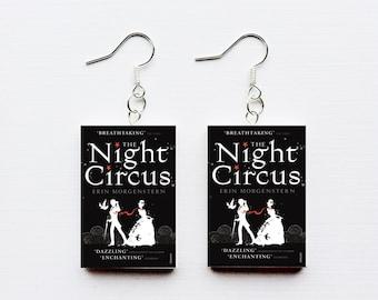 Night Circus mini book earrings