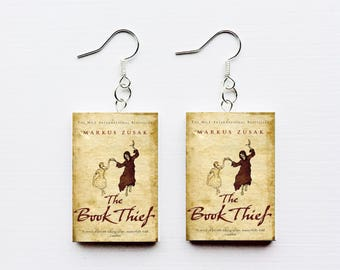 Book Thief mini book earrings