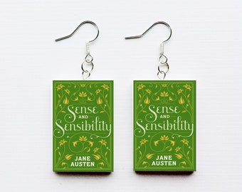 Sense and Sensibility mini book earrings