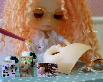 Miniature Books Custom Dolls, Reroot, Eyechips