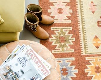 Kilim rug - 180x120cm / Southwestern rug / Home decoration / Bohemian design / Scandinavian interior / Livingroom / Cotton carpet