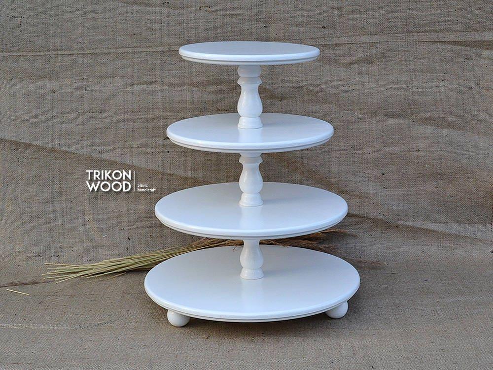 3 Tier Serving Tray. Demountable Cake Stand. Wedding Cake