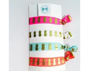Pineapple hair tie set