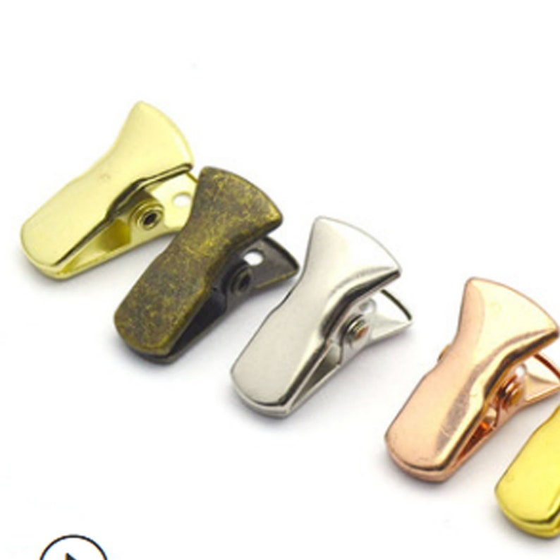 DIY  card holderr Glass Chain Clips,Non-slip clip Clothing hat clip,Jewelry Accessories Small metal clip,Flat mouth clip Photo clip