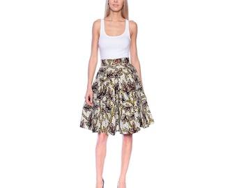 Ankara skirt, short African print skirt, Mini skirt, flared skirt, sping fashion, Floral print skirt, Tribal print skirt, Pleated skirt