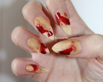 Vampire Nails Etsy