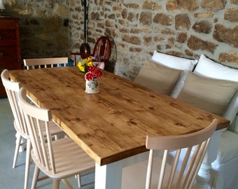 Farmhouse Kitchen Table Rustic Kitchen Table Kitchen Table Dining Table  Bespoke Tables
