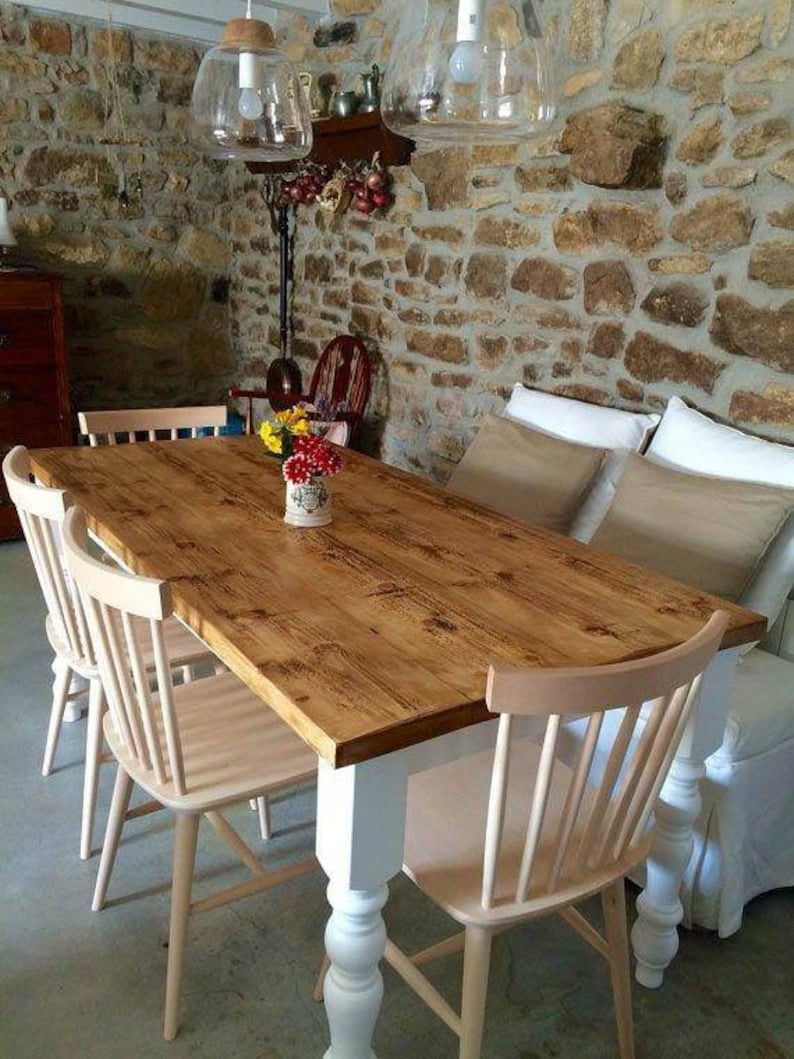 Farmhouse Kitchen Dining Table, Country Kitchen Dining Table, Rustic  Kitchen Table, Bespoke Tables