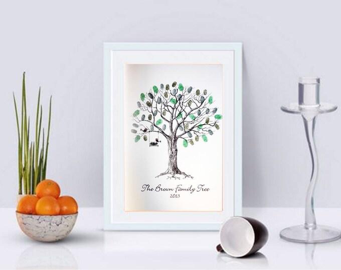 Personalised Family Fingerprint Tree- Ideal Christmas Gift!