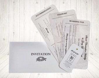 Vintage Map Wedding Invitation Personalised