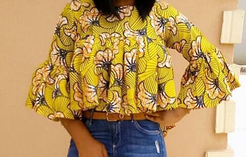 Women topAfrican blouseAfrican Print topAnkara print topAfrican clothing for womenAfrican fabric topblouseswing topAfrican clothing