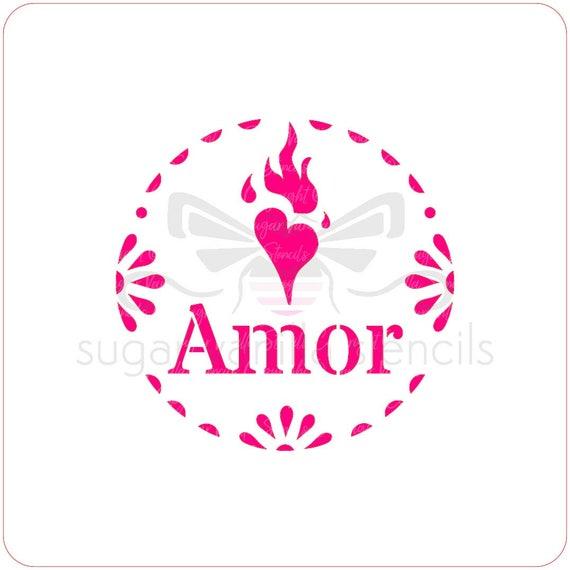 designer stencils Mini Amore Cupcake Stencil Set