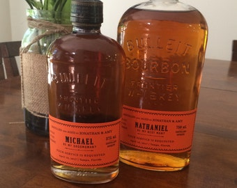 Will You Be My Groomsman? Bulleit Bourbon Inspired Whiskey Bottle Adhesive Labels