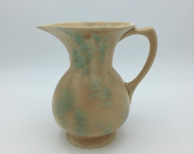 Art Deco Jug 1930-35 Unusual Sand & Light Green Glaze