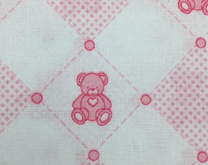 PINK Various Designs Printed 100% Cotton - FAT QUARTERS