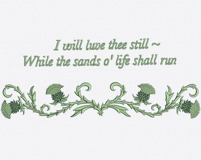Robert Burns Quote - Embroidery design for machine embroidery. Available in PES, JEF, DST and more formats.