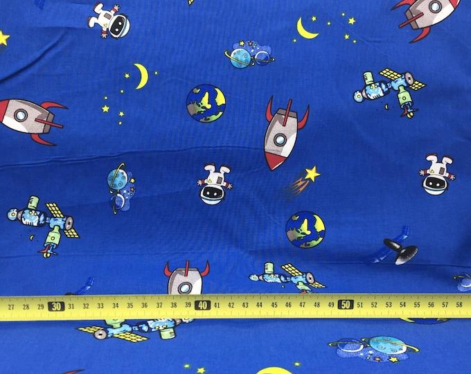 100% Cotton Fabric - Space Design 144cm wide