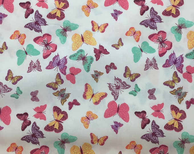 100% Cotton Fabric - Butterfly Design 144cm wide