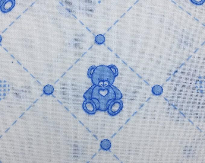 BLUE Various Designs Printed 100% Cotton - FAT QUARTERS